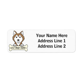 Personalized Siberian Husky Label