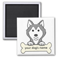 Personalized Siberian Husky Magnet