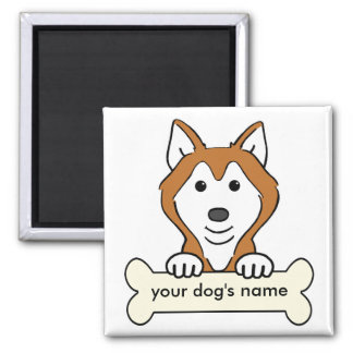 Personalized Siberian Husky Refrigerator Magnet