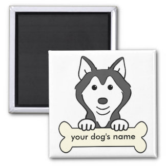 Personalized Siberian Husky Fridge Magnet