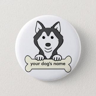Personalized Siberian Husky Pinback Button