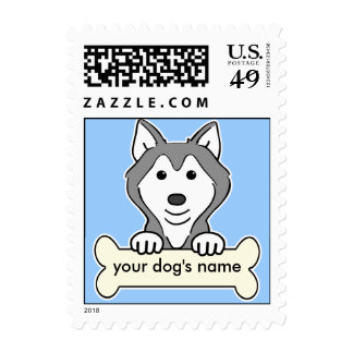 Personalized Siberian Husky Postage Stamps