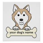 Personalized Siberian Husky Poster