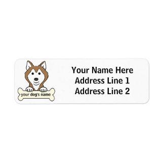 Personalized Siberian Husky Return Address Label