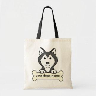 Personalized Siberian Husky Tote Bag