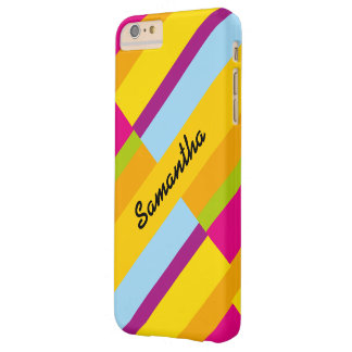 Personalized signature contemporary block design barely there iPhone 6 plus case