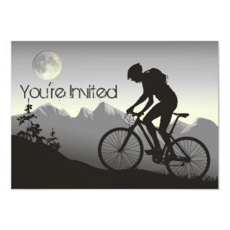 Personalized Silhouete Mountain Bike Birthday Card