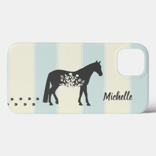 Personalized Silhouette Horse Country Farm iPhone 13 Case