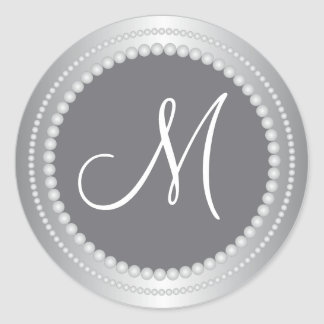Personalized Silver Beads Wedding Monogram Seals