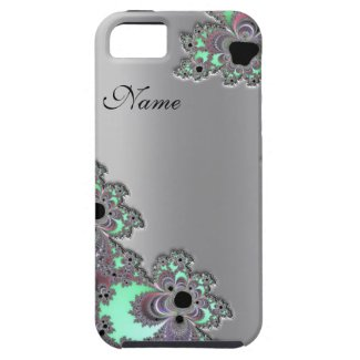 Personalized Silver Metallic Fractal iPhone 5 Case