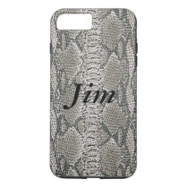 Personalized Silver Snake Skin iPhone 7 Case