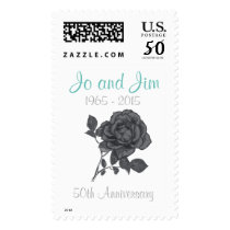 Personalized Silver Wedding Anniversary Stamps