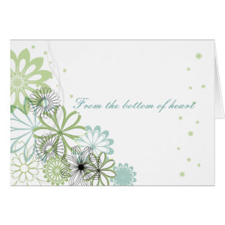 Personalized  Simple Flowers Thank You Card