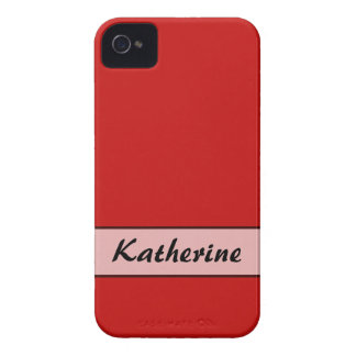 Personalized Simple red color Blackberry Bold Case