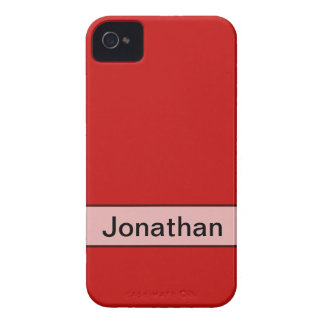 Personalized Simple red color iPhone 4 Case-Mate Cases