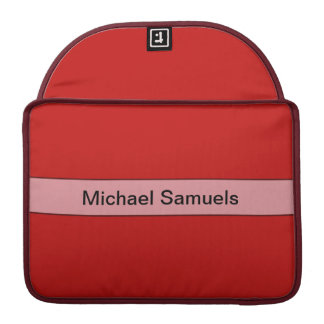 Personalized Simple red color MacBook Pro Sleeves