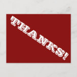 """[ Thumbnail: Personalized, Simple """"Thanks!"""" Postcard ]"""