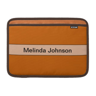 Personalized simple yellow orange color MacBook sleeve