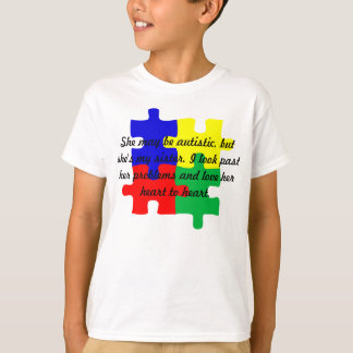 "Personalized ""Sister"" Autism T-Shirt Kids'"