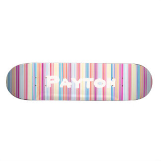 Personalized Skateboard Girly Colorful Stripes