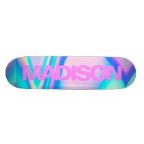 Personalized Skateboard Name Pink Girly Modern