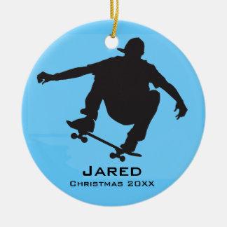 Personalized Skateboarding Ornament