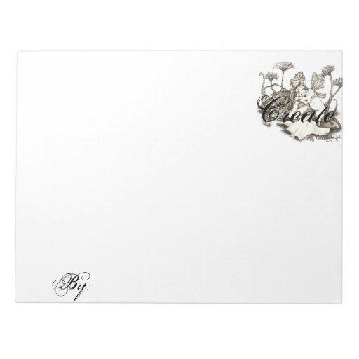 Personalized sketch pad memo pad