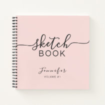 Personalized Sketchbook Your Name Elegant Script Notebook