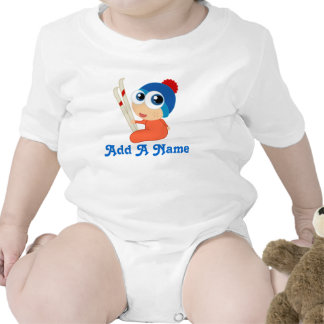 Personalized Ski Baby Skiing Tee