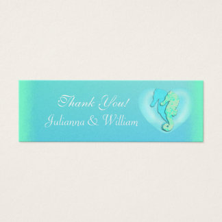 Personalized Skinny Sea Horse Wedding Favor Tags