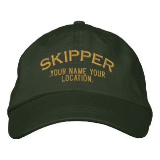 Personalized Skipper Nautical Style Hat