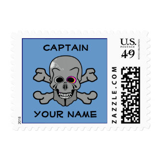 Personalized skull and Cross bones Stamp