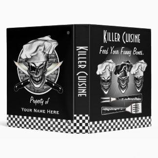 Personalized Skull Chef Binder Vinyl Binder
