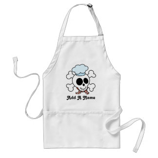 Personalized Skull Chef Gift Adult Apron