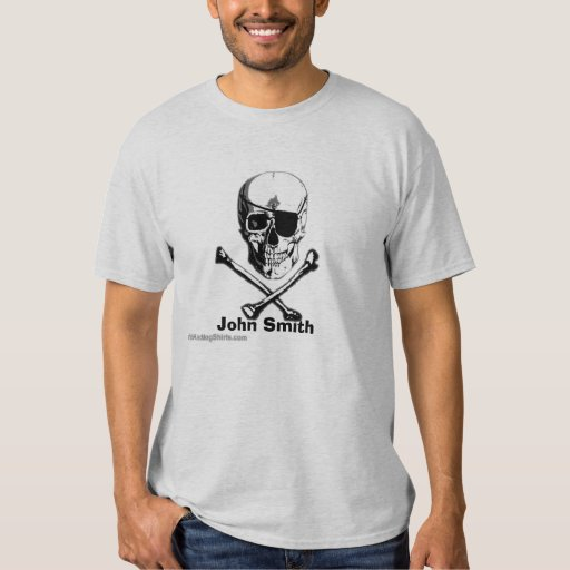 Personalized Skull & Crossbones Pirate T-shirt