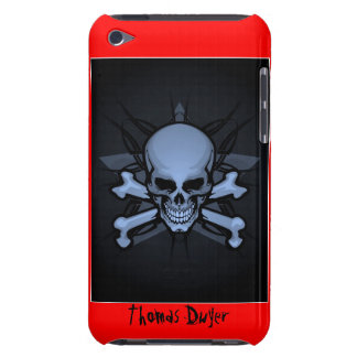 Personalized ! sKuLL cRoSsBoNz IPOD TOUCH 4th gen  iPod Touch Case