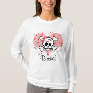 Personalized Skull Hoodie Pink Bow Heart