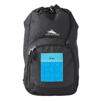 Personalized sky blue white baby carriages backpack