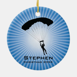 Personalized Sky Diving Parachuting Ornament