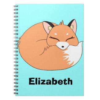Personalized Sleeping Fox Notebook