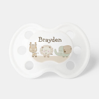 "Personalized ""Sleepy Animal Safari"" Pacifier"