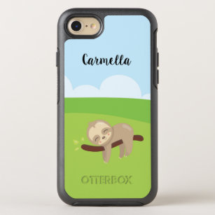 new product 15339 0d89e Personalized Sleepy Sloth OtterBox Symmetry iPhone 8/7 Case