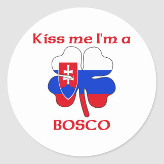Personalized Slovakian Kiss Me I'm Bosco Stickers