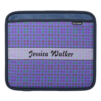 Personalized small dots on blue sleeve for iPads