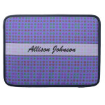 Personalized small dots on blue MacBook pro sleeve