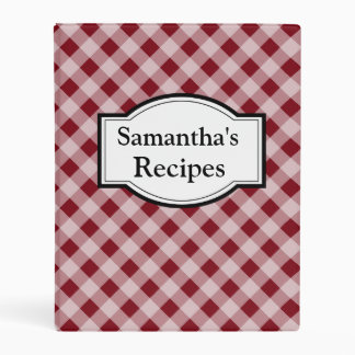 Personalized Small Recipe Binder