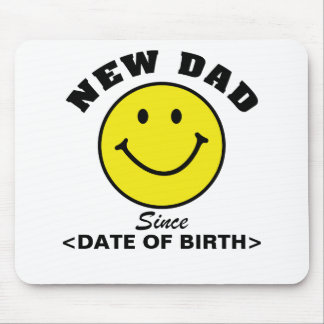 Personalized Smiley Face New Dad Gift Mouse Mat