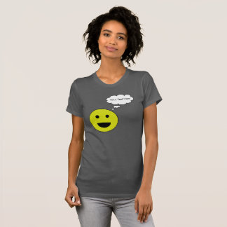 Personalized Smiley with Thought Bubble T-Shirt