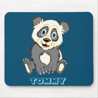 Personalized Smiling Panda Bear Mouse Pad