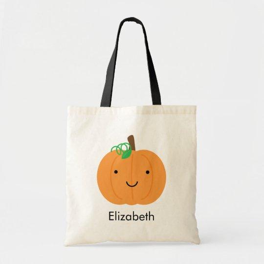 Personalized Smiling Pumpkin Treat Bag